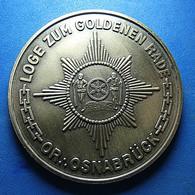 Medal - Loge Zum Goldenen Rade - Osnabrück - Non Classés