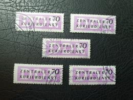 DDR - Dienstmarken B - ZKD - Kl. Lot MiNr. 13 - M Kontrollzahl 2000 - Service