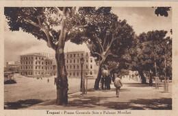 TRAPANI-PIAZZA GENERALE SCIO E PALAZZO MUTILATI -CARTOLINA VIAGGIATA IL23-3-1948 - Trapani