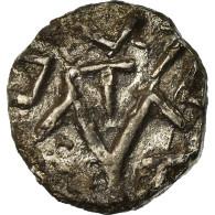 Monnaie, France, Denier Indéterminé, TTB, Argent, Belfort:Manque - 470-751 Monnaies Mérovingiennes
