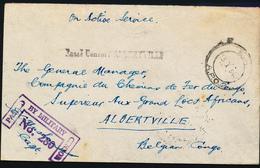 BELGIAN CONGO WWII SM FROM APO 2 13.01.43 TO CFL ALBERTVILLE - Congo Belga