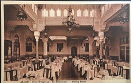 ALGERIA, ALGER......Hotel St. Georges - Le Restaurant,   Dining Room - Algiers