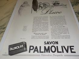 ANCIENNE PUBLICITE  POUR PLAIRE SAVON PALMOLIVE 1924 - Perfumes & Belleza