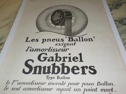 ANCIENNE PUBLICITE AMORTISSEUR GABRIEL  SNUBBERS 1924 - Vervoer