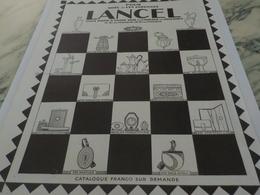 ANCIENNE PUBLICITE POUR NOEL ET LES ETRENNES  LANCEL 1924 - Habits & Linge D'époque