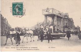 BAC19 - BORDEAUX FETES VENDANGES  CHAR DE SAINT ANDRE DE CUBZAC  CPA  CIRCULEE - Bordeaux