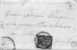 Cachet Perlé Sur Sage,Saint VICTOR,L.A.C. Du 25/4/1881. - 1877-1920: Semi-moderne Periode