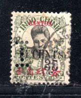 Indochina/Canton, Briefmarke 35c Mit Perfin (18088E) - China