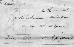 """Cursive """"60 JOINVILLE LE PONT"""" L.A.C. De La Forge Anglaise De St MAUR Pour EPINAC. - 1801-1848: Vorläufer XIX"""