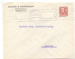 Omslag Enveloppe Kuvert - Pub Reklam Reclame - Alkvist A Andersson - Örebro Suède Zweden Sverige - 1939 - Postal Stationery