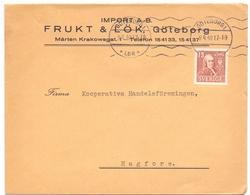 Omslag Enveloppe Kuvert - Pub Reklam Reclame - Import Frukt & Lök - Göteborg Suède Zweden Sverige - 1940 - Postal Stationery