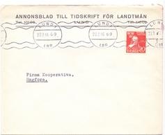 Omslag Enveloppe Kuvert - Pub Reklam Reclame - Annonsblad Till Tidskrift För Landtman - Lund Suède Zweden Sverige - 1945 - Postal Stationery