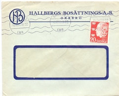 Omslag Enveloppe Kuvert - Pub Reklam Reclame - Hallbergs Bosättnings A.B. - Örebro Suède Zweden Sverige - 1947 - Postal Stationery
