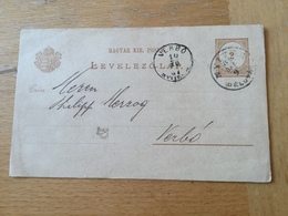 K3 Ungarn Ganzsache Stationery Entier Postal P 14 Nach Verbó - Ganzsachen