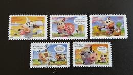 """France Timbres Série Complète N° 4089 à 4093 - Année 2007  """"Sourires Avec Les Vaches"""" - Francia"""