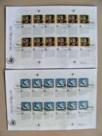 2 Fdc Covers UN United Nations Geneve Switzerland 1993 Sheetlets 18x26cm Droits De L'homme Art Painting - Genf - Büro Der Vereinten Nationen