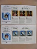 2 Fdc Covers UN United Nations Geneve Switzerland 1993  Droits De L'homme Art Painting - Genf - Büro Der Vereinten Nationen