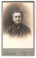Fotografie G. De Rudder, Liege, Portrait Betagte Hübsche Dame Mit Ohr- Und Halsschmuck - Anonyme Personen