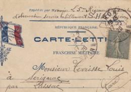 Correspondance Militaire / Carte Lettre. - Marcophilie (Lettres)