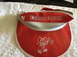 Ancienne Casquette Allemagne Europa Park Manège Parc D'attractions En L'état Voir Trou Sur Le Côté 1960 - Cappellini