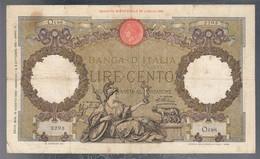 100 Lire Capranesi Roma Guerriera 18 08 1936 Fascio Roma La Prima Banconota Imperiale Rara Taglietti E Forell LOTTO 3235 - 100 Lire