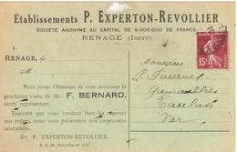 Etablissement P. Experton-Revollier - Carte Publicitaire - Renage