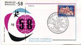 14158145 Belgium 19580727 Bx Expo58; Journée Nationale Du Personnel Des Postes; Pli - 1958 – Brussels (Belgium)