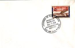14158148 Belgium 19580730 Bx Expo58; Journée De St-Marin; Pli - 1958 – Brussels (Belgium)