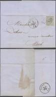 émission 1865 - N°17 Sur LAC Obl Pt 49 çàd Boussu (1867) > Mons - 1865-1866 Profile Left