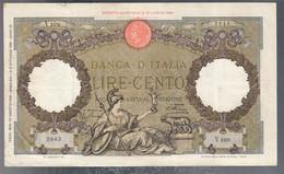 100 Lire Capranesi Roma Guerriera 18 08 1936 Fascio Roma La Prima Banconota Imperiale Rara Bb+ Naturale LOTTO 3236 - 100 Lire