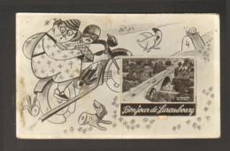 Luxembourg - Carte à Système - Bonjour De Luxembourg - Moto - Luxemburg - Stad