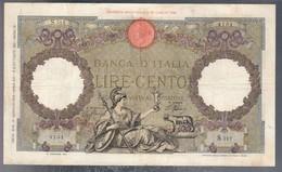 100 Lire Roma Guerriera Roma Fascio 29 01 1938 Bel Bb Naturale 2 Forellini Di Spilla  LOTTO 3238 - 100 Lire