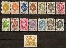 (Fb).Liechtenstein.1920.Serie Completa 15 Valori Nuovi,gomma Integra,MNH (54-20) - Nuovi