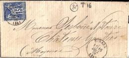 35 . ILLE ET VILAINE . DINARD . TàD De Type 16 . 1878 - Handstempel