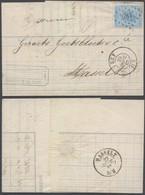 émission 1865 - N°18 Sur LAC Obl Pt 186 çàd Huy (1867) > Hasselt. TB - 1865-1866 Profilo Sinistro