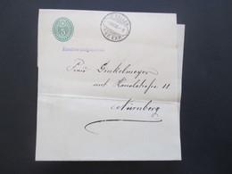 Schweiz 1903 Streifband Nach Nürnberg Mit St. Gallen Rasierklingenstempel Brf. Exp. - Covers & Documents