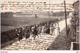 MORESTEL USINE DE TISSAGE ETABLISSEMENTS GRATRY SORTIE DES OUVRIERS 1918 TBE - Morestel
