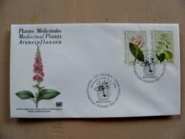 Fdc Cover UN United Nations Geneve Switzerland 1990 Flowers Flora Plants Medical - Genf - Büro Der Vereinten Nationen