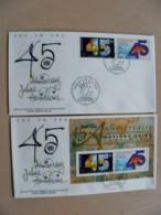 2 Fdc Covers UN United Nations Geneve Switzerland 1990 45th Ann. - Genf - Büro Der Vereinten Nationen