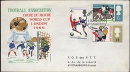FOOT - L25 - GRANDE BRETAGNE FDC Coupe Du Monde De Football Londres 1966 - 1952-1971 Em. Prédécimales