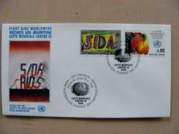 Fdc Cover UN United Nations Geneve Switzerland 1990 Sida Aids - Genf - Büro Der Vereinten Nationen