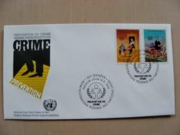 Fdc Cover UN United Nations Geneve Switzerland 1990 Crime Prevention - Genf - Büro Der Vereinten Nationen