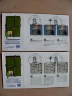 2 Fdc Cover UN United Nations Geneve Switzerland 1990 Art Painting - Genf - Büro Der Vereinten Nationen