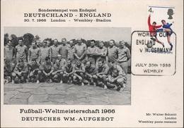 FOOT - L28 - GRANDE BRETAGNE Coupe Du Monde De Footbal 1966 Match Allemagne Grande-Bretagne - Cartes-Maximum (CM)