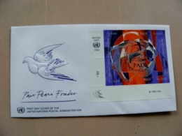 Fdc Cover UN United Nations Geneve Switzerland 1993 Bird Paix Peace - Genf - Büro Der Vereinten Nationen