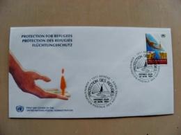 Fdc Cover UN United Nations Geneve Switzerland 1994 Protection For Refugees - Genf - Büro Der Vereinten Nationen