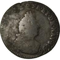 Monnaie, France, Louis XIV, Liard De France Au Buste âgé, Troisième Type - 1643-1715 Louis XIV Le Grand