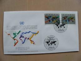 Fdc Cover UN United Nations Geneve Switzerland 1994 Map - Genf - Büro Der Vereinten Nationen