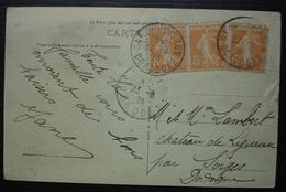 Gare Du Buisson, (Dordogne) 1924 Sur Carte Du Château De Fayrac (en Sarladais), Pour Sorgues - Marcofilie (Brieven)