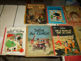 Tintin + Quick Et Flupke Lot De 7 B D   (23) - Livres, BD, Revues